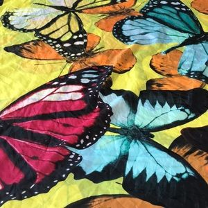 Satin butterfly scarf